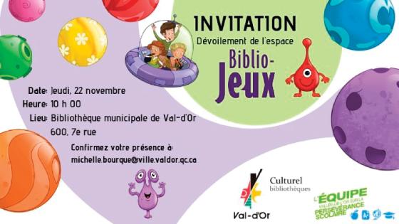 INVITATION – Espace Biblio-Jeux