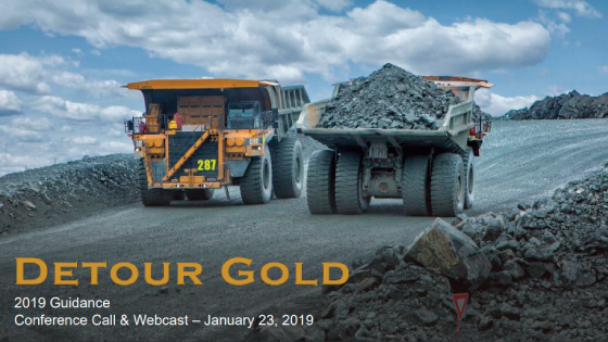 Detour Gold Provides Notice of First Quarter 2019 Results
