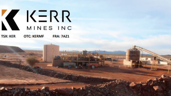 Kerr Mines Achieves 97% Gold Recovery from Metallurgical Test Work